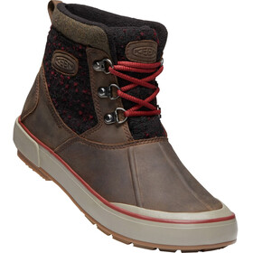 Keen Elsa II Ankle Wool WP Shoes Women cascade brown/fried brick
